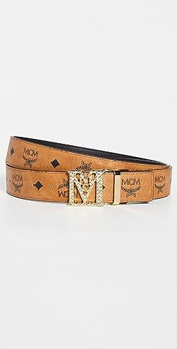 MCM - Mena M Buckle Reversible Belt