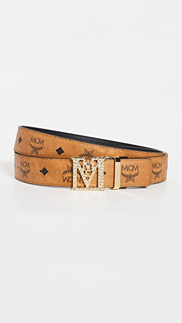 MCM Mena M Buckle Reversible Belt