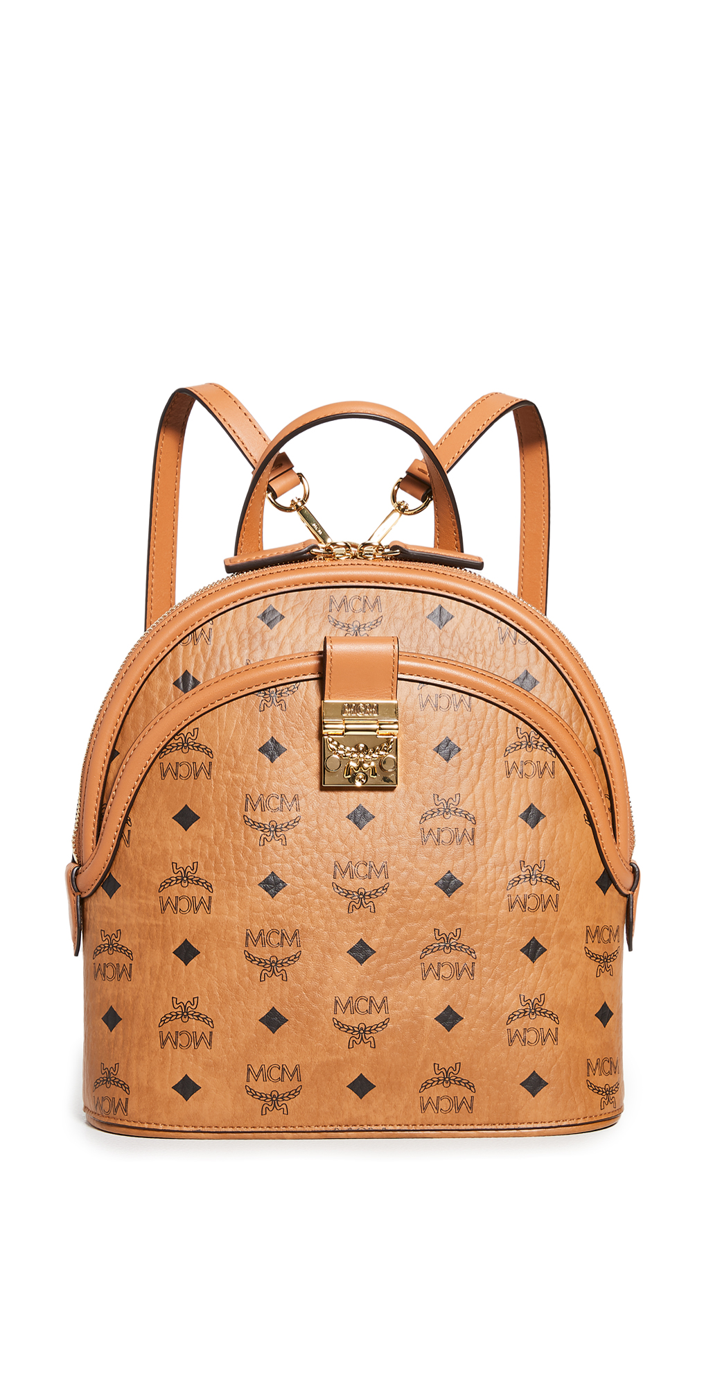 MCM Anna Visetos Small Backpack