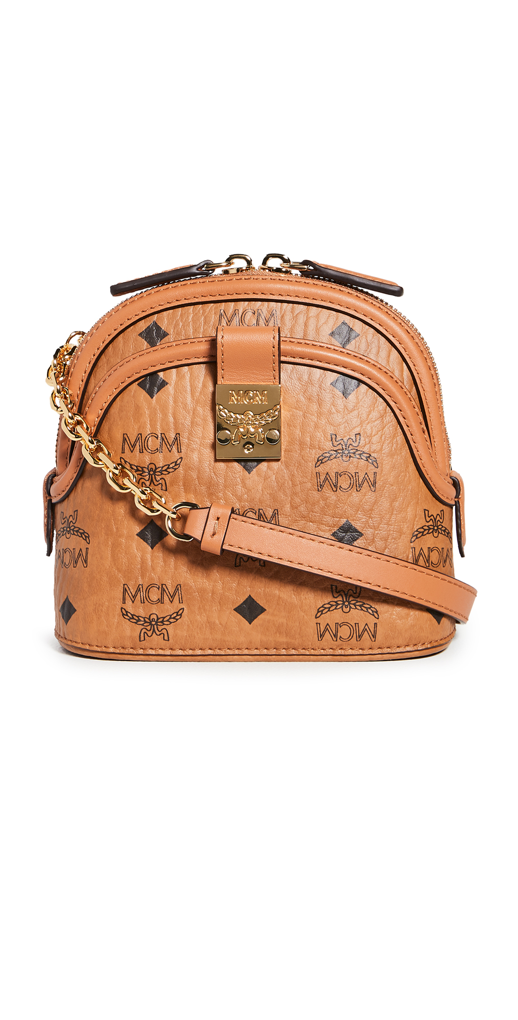 MCM Anna Visetos Mini Crossbody Bag