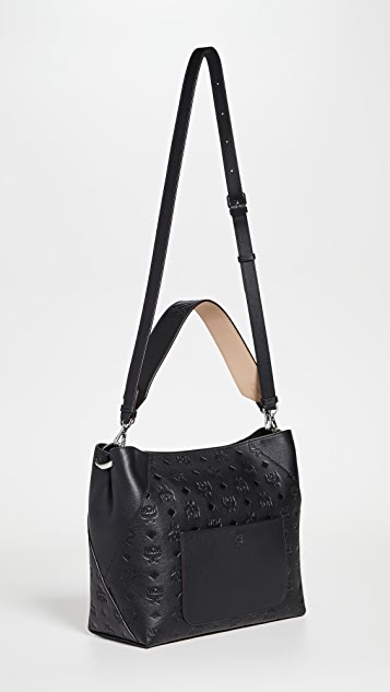 MCM Leather Medium Hobo Bag