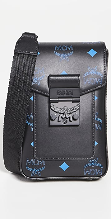 MCM Color Splash Logo Crossbody Mini Bag