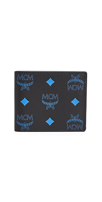MCM Color Splash Logo Flap Wallet