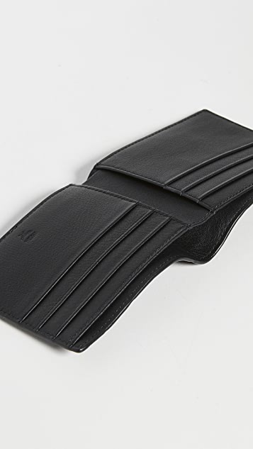 MCM Klara Monogrammed Leather Flap Wallet