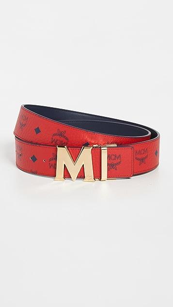 MCM Reversible Flat M Buckle Belt