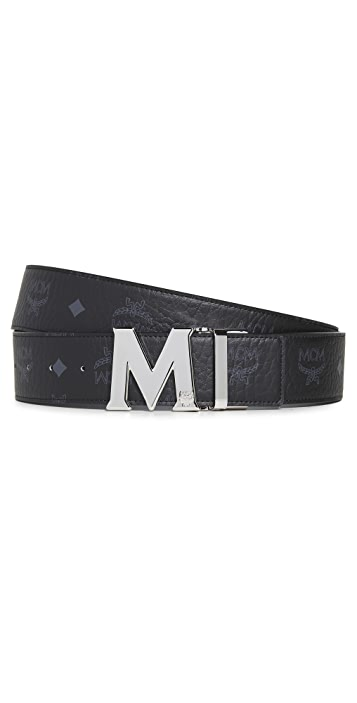 MCM Adjustable Logo Belt
