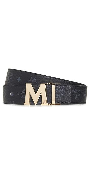 MCM Adjustable Reversible Logo Belt