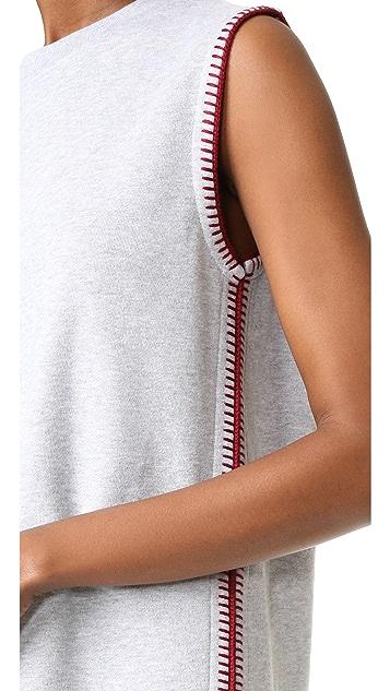 McQ - Alexander McQueen Crochet Sweatshirt Dress