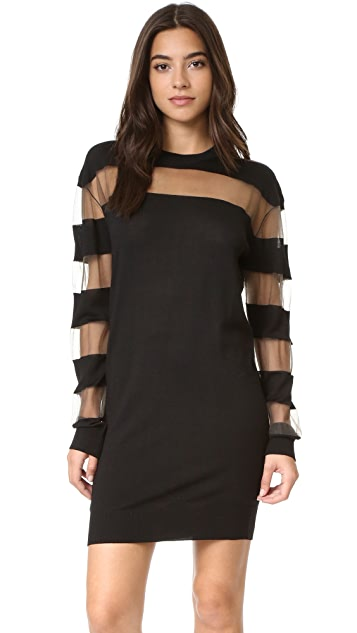 McQ - Alexander McQueen Sheer Stripe Dress