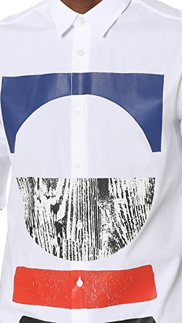 McQ - Alexander McQueen Short Sleeve Sheehan Tribal Shirt