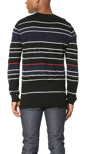 McQ - Alexander McQueen Brushed Stripe Crew Sweater