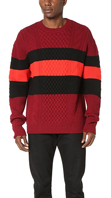 McQ - Alexander McQueen Needle Punch Cable Crew Sweater