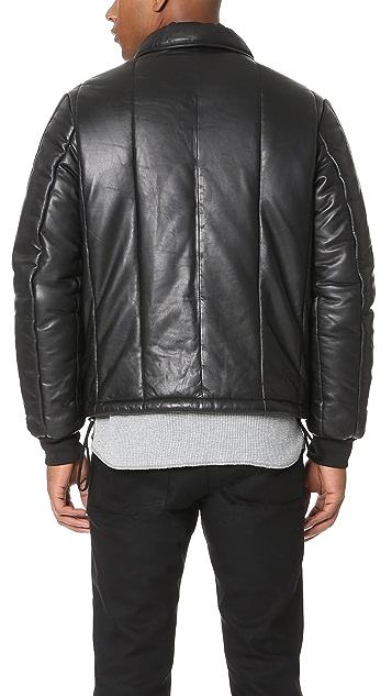 McQ - Alexander McQueen Puffer Leather Bomber