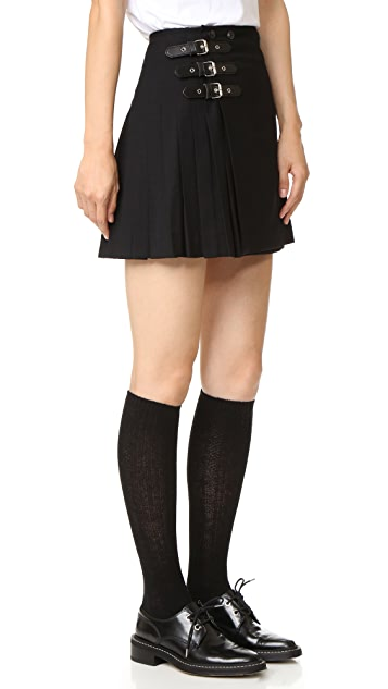 McQ - Alexander McQueen Buckle Pleated Skirt