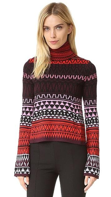 McQ - Alexander McQueen Fair Isle Turtleneck Sweater