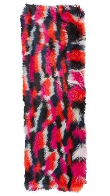 McQ - Alexander McQueen Patchwork Faux Fur Scarf