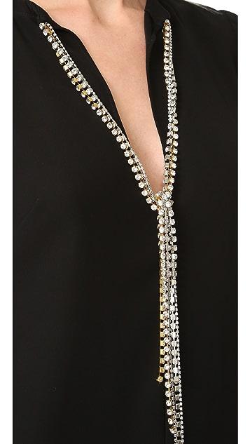McQ - Alexander McQueen Diamond Maxi Tie Dress
