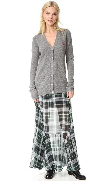 McQ - Alexander McQueen Flared Fluid Maxi Skirt