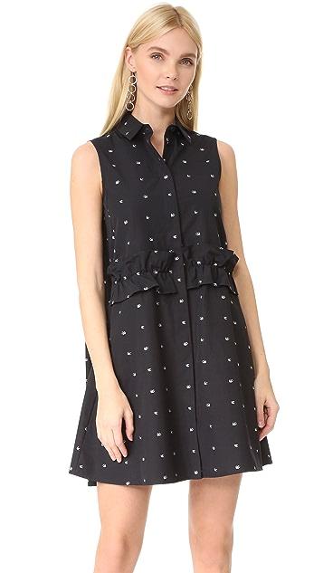 292b5752279 McQ - Alexander McQueen Ruffle Shirt Dress