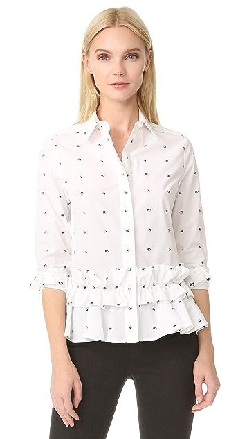 McQ - Alexander McQueen Peplum Ruffle Shirt