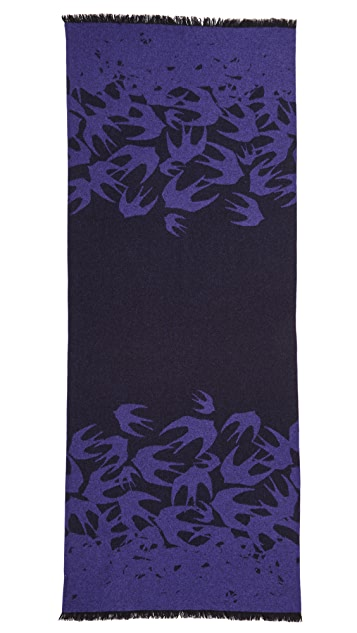 McQ - Alexander McQueen Swallows Degrade Scarf