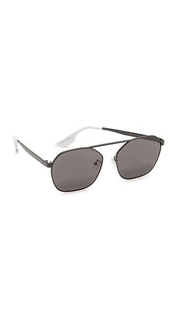 McQ - Alexander McQueen Hexagon Brow Bar Sunglasses