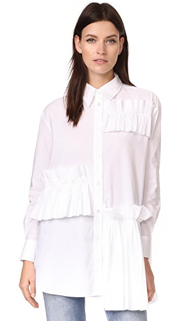 McQ - Alexander McQueen Ruffle Tunic Shirt