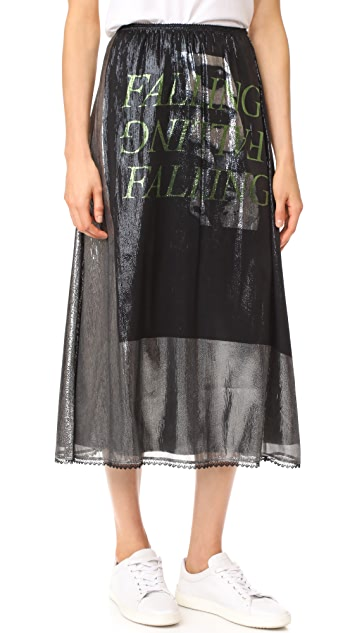 McQ - Alexander McQueen Lurex Fluid Gather Skirt