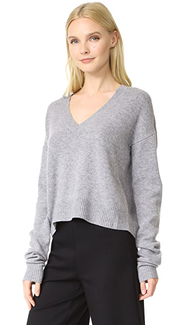 McQ - Alexander McQueen Cutout V Neck Sweater