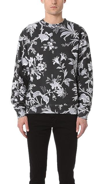 McQ - Alexander McQueen Oversized Floral Sweatshirt