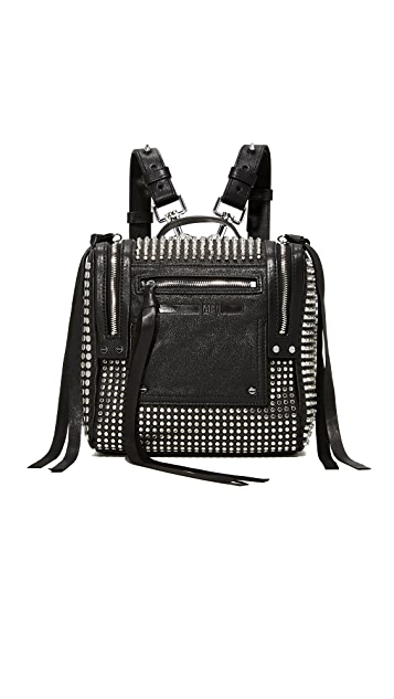 McQ - Alexander McQueen Stud Mini Convertible Box Backpack - Black