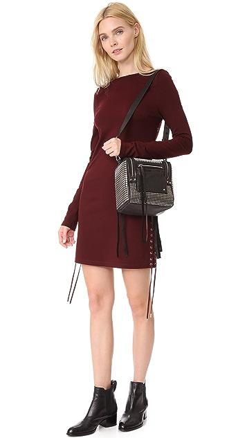 McQ - Alexander McQueen Stud Mini Convertible Box Backpack