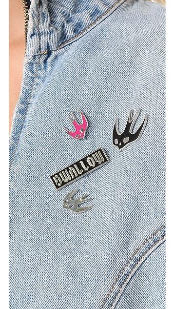 McQ - Alexander McQueen Enamel Swallow Pins