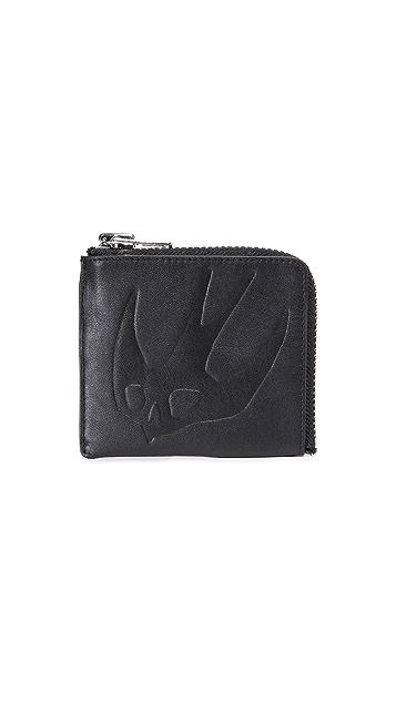 McQ - Alexander McQueen SWALLOW Zip Wallet