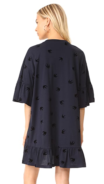 McQ - Alexander McQueen Loose Ruffle Tee Dress