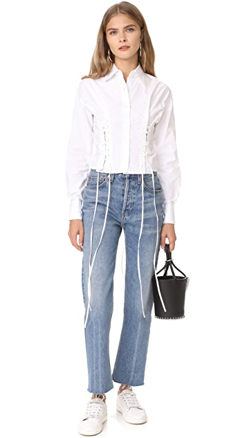 McQ - Alexander McQueen Short Corset Shirt