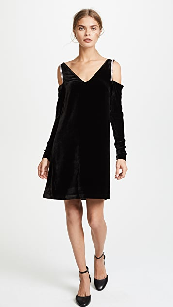 McQ - Alexander McQueen V Neck Crystal Sleeveless Dress