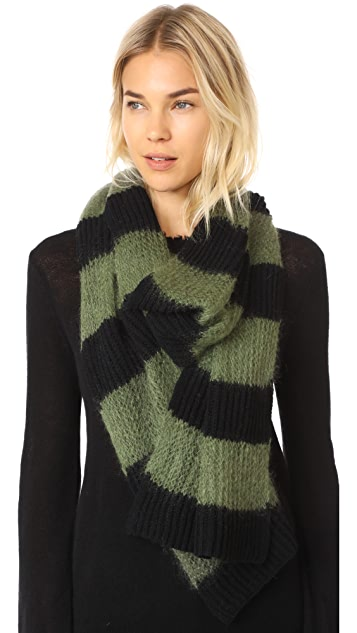 McQ - Alexander McQueen Brushed Stripe Scarf