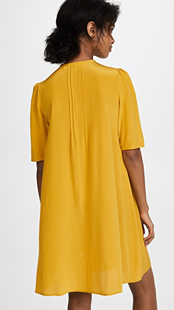 McQ - Alexander McQueen Pintuck Volume Dress