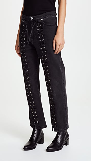 McQ - Alexander McQueen Front Lace Jeans