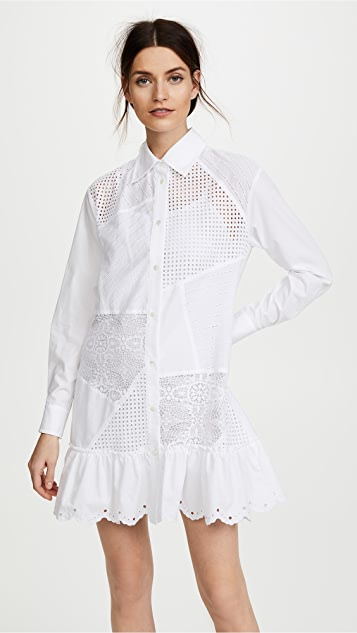 McQ - Alexander McQueen Cut Up Brod Tunic Dress