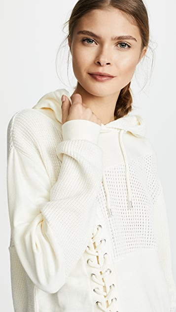 McQ - Alexander McQueen Lace Patched Hoodie