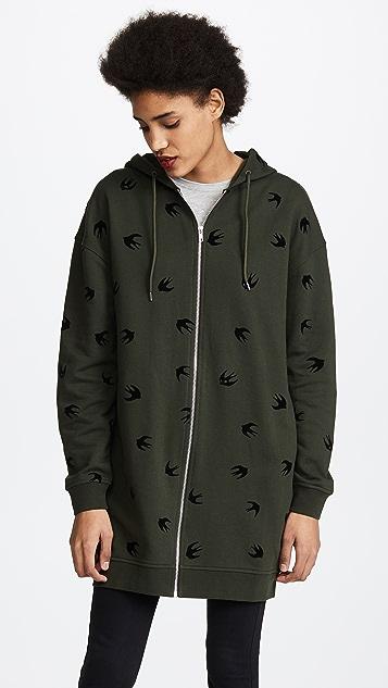 McQ - Alexander McQueen Slouchy Zip Through Sweatshirt - Khaki