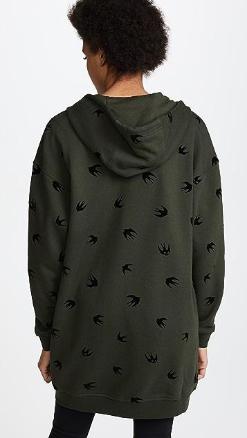 McQ - Alexander McQueen Slouchy Zip Through Sweatshirt