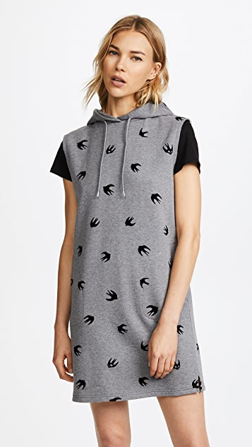 McQ - Alexander McQueen Sleeveless Hoodie Dress