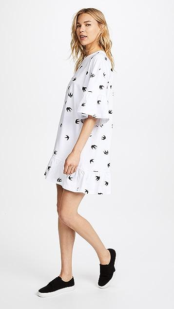 McQ - Alexander McQueen Loose Ruffle T Dress