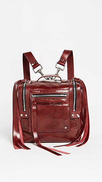 McQ - Alexander McQueen Mini Convertible Box Bag Fringe Backpack