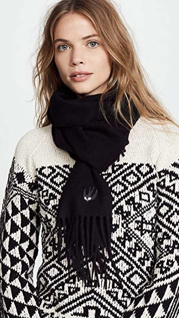 McQ - Alexander McQueen Swallow Badge Scarf