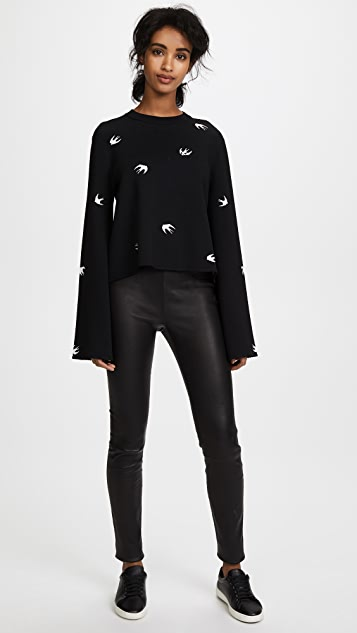 McQ - Alexander McQueen Small Swallow Flare Sleeve Pullover