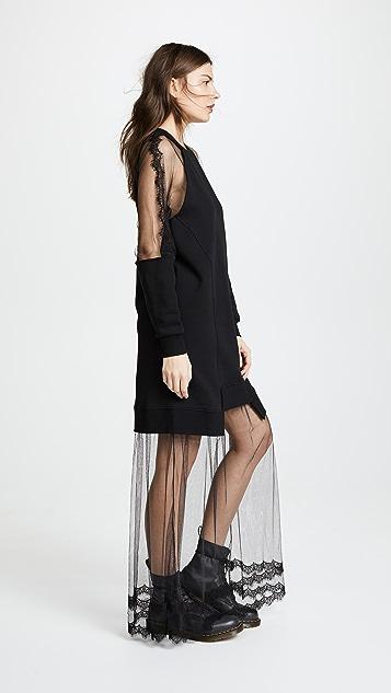 McQ - Alexander McQueen Hybrid Long Dress
